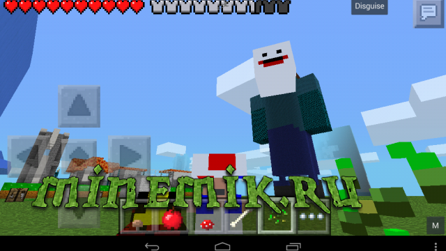 Мод на супер марио для Minecraft PE