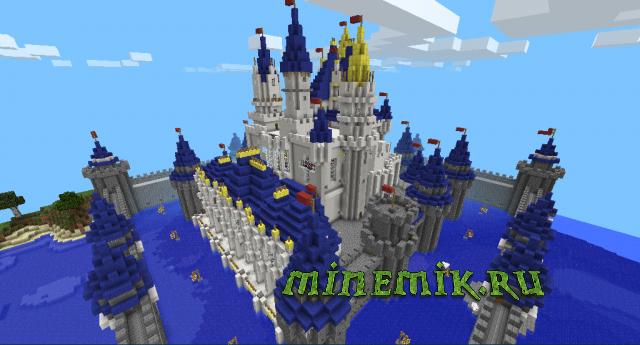 Красивый замок для Майнкрафт ПЕ