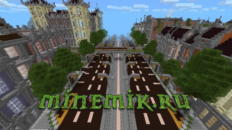 Красивый город XVIII века для Minecarft PE