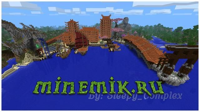 Японский город для Minecraft PE