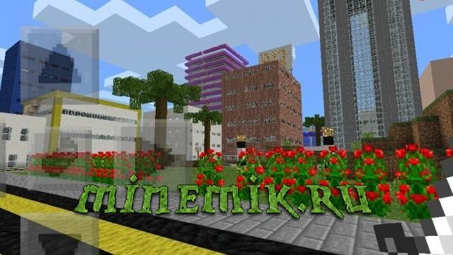 Небольшой городок для Minecraft PE