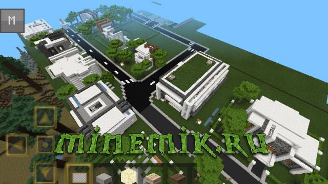 Небольшой поселок городского типа для MCPE