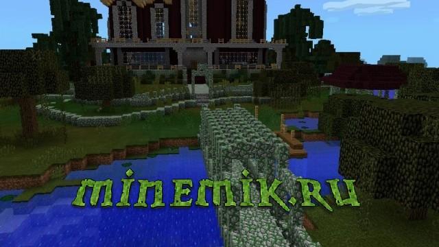 Средневековая деревня для Minecarft PE