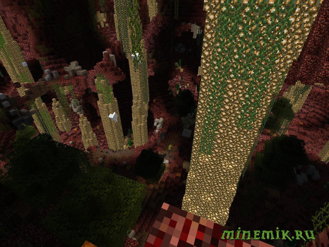 """Карта """"Под огнем"""" для Майнкрафт"""