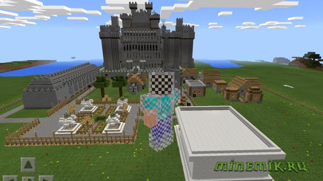 Крутой замок в готическом стиле для MCPE
