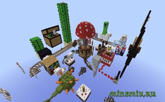 Карта в стиле Pixel Art для Minecraft PE (2 часть)