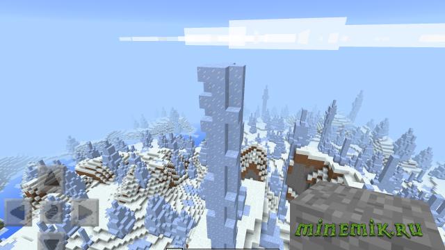 Сид с ледяным биомом для Minecratf PE
