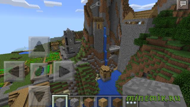 Сид с эпической деревней для MCPE