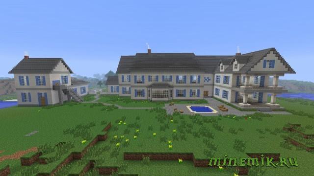 Карта с большим домом для MCPE