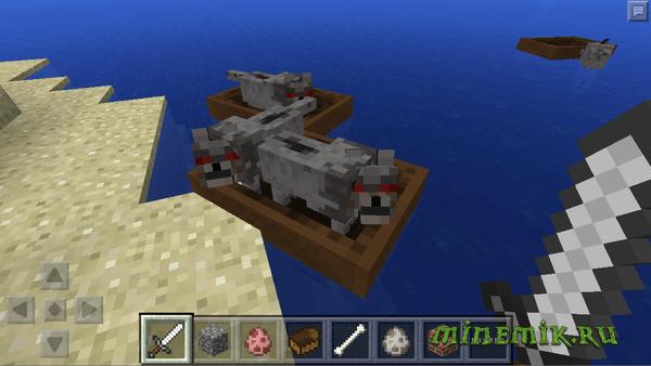 Возможно, в MCPE 0.11 можно будет сажать животных в лодку!