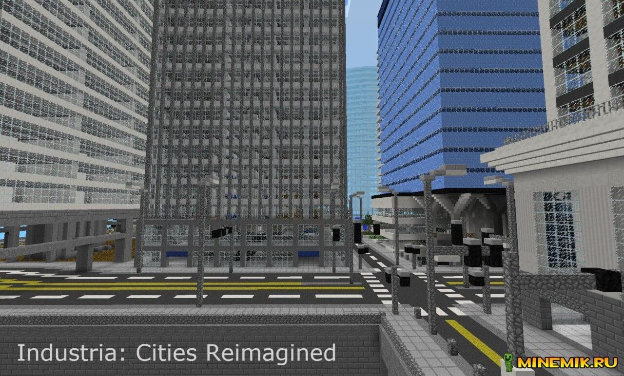 The City of Industria — карта с городом для Minecraft PE