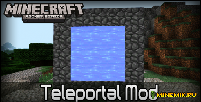 Teleportal Mod-мод на телепорты в MCPE