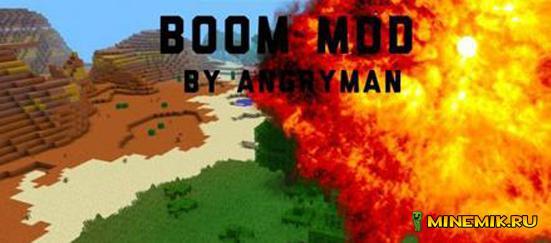 Boom Mod - мод на новые виды взрывчатки для MCPE