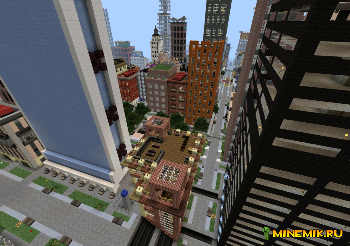 Карта E-Land - красивый город для MCPE