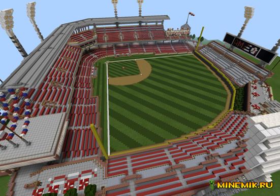 Карта AM Ballpark-бейсболный стадион для MCPE