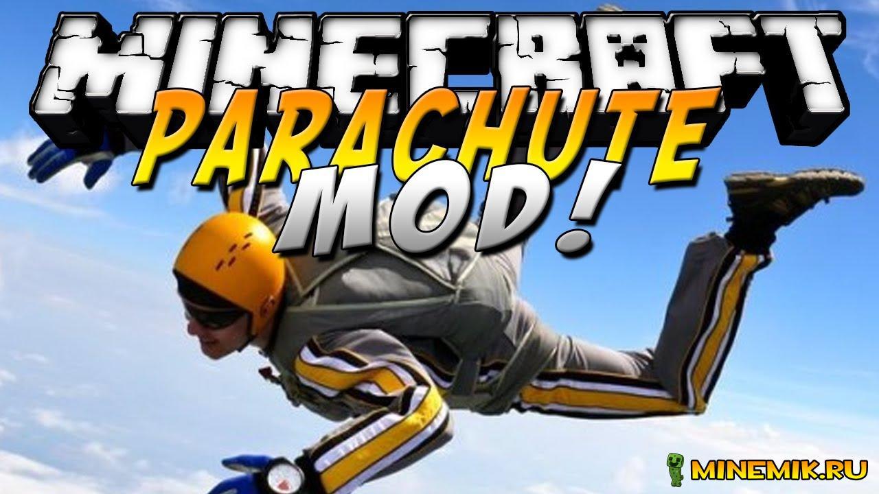 Мод Parachute Mod - мод на парашюты для MCPE