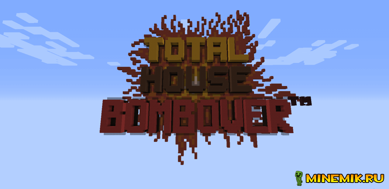 Карта Total House Bombover Map для майнкрафт pc