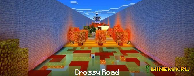 Карта Crossy Road для minecraft PE