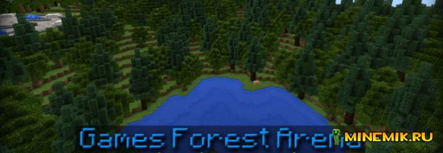 Карта Hunger Games Forest Arena для minecraft PE