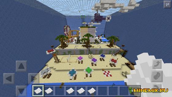 Карта Murder Mystery: Beach Resort для minecraft PE