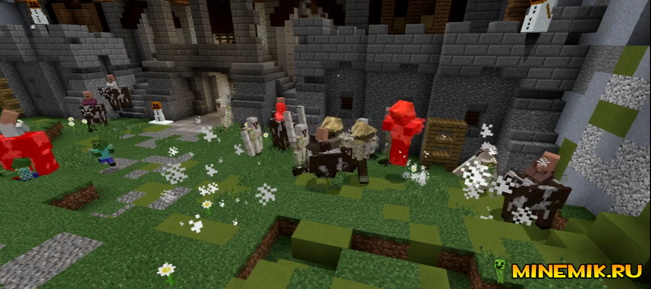 Аддон CASTLE SIEGE для Minecraft PE 0.16.0