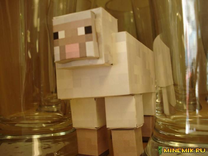 Как сделать овцу из бумаги из Minecraft? + схема
