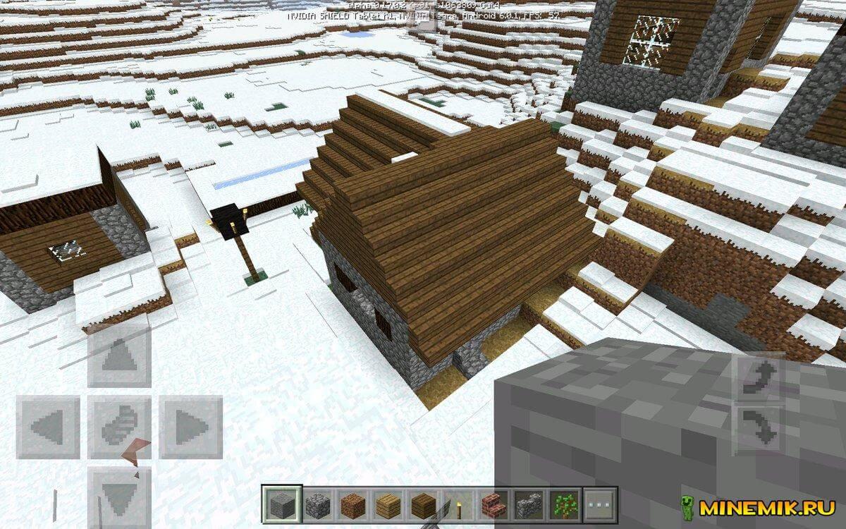 Большой деревенский дом в Minecraft PE 1.0