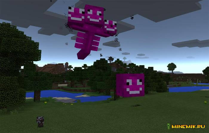 Аддон на скелета исушителя для Minecraft PE