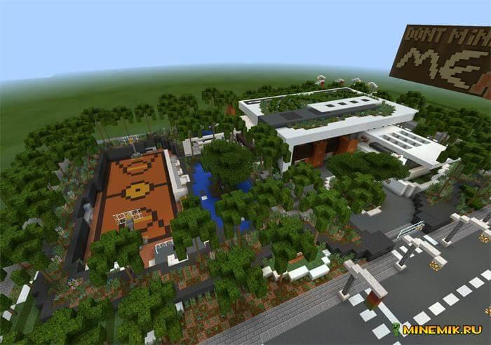 """Карта """"современное село"""" для Minecraft PE"""