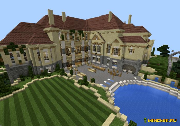 Карта роскошный особняк для Minecraft PE
