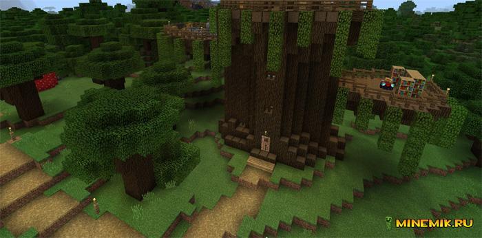 карта дом на дереве для minecraft pe #8